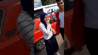 شاب يقبل ويحضن طالبة فى مدرسه السلام الصناعيه بالقاهرة +18