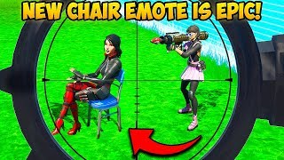 *NEW* CHAIR EMOTE IS SAVAGE!!   Fortnite Funny Fails And WTF Moments! #766