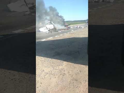 """Женщина сгорела в """"Газели"""" в результате ДТП недалеко от города Орша"""