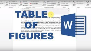 How to make figure captions and a table of figures in word