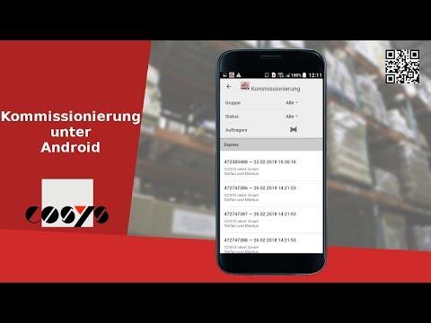 Kommissionierung mit COSYS Software für mobile Geräte