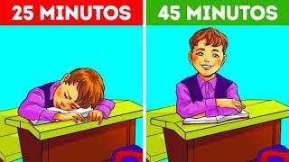 Por esta razón las lecciones escolares duran exactamente 45 minutos