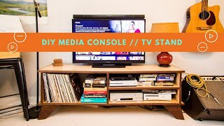 How To Build A MODERN DIY TV STAND // Plywood Media Console // Vinyl Station