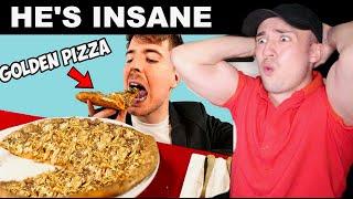 MrBeast Ate a $70,000 Golden Pizza (OMG)