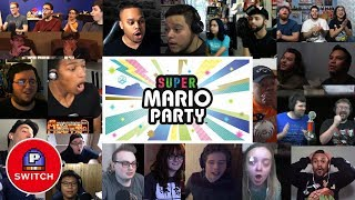 Live Reaction: Super Mario Party for Nintendo Switch | E3 2018 | 20+ Youtubers Synched Compilation