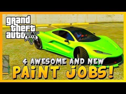 "GTA 5 - ""4 AWESOME NEW PAINT JOBS"" ""ALL CARS"" ""T20"" - (Ill Gotten Gains Part 2 DLC - Patch 1.28)"