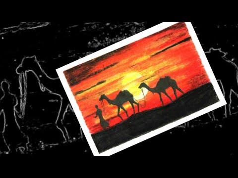 Desert Scenery | Soft Pastel Drawing | Samsul Alam - смотреть онлайн