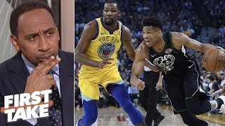 Greek Freak turning down workouts with LeBron, Kevin Durant is 'not smart' – Stephen A. | First Take