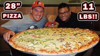 "Alberto's Italian 28"" Pizza Challenge w/ Healthy Vegetables!!"