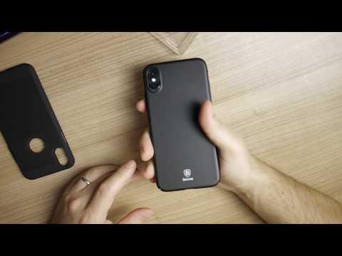 Baseus Ultra Thin & Mesh Heat Dissipation Anti Fingerprint Back Case Cover for iPhone X Comparison