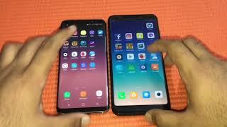 Xiaomi Redmi 5 plus vs Samsung galaxy s8 - Speed Test!!