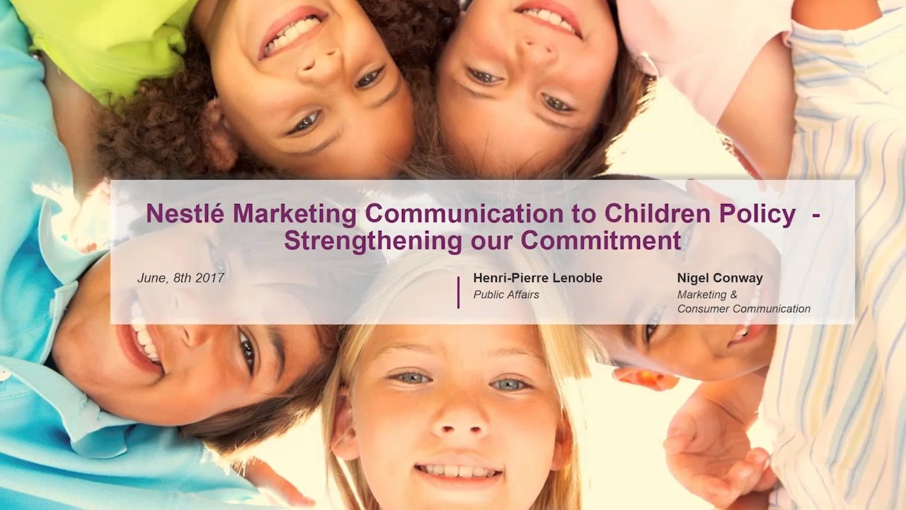 CGF Health & Wellness Webinar – Responsible Marketing to Children Insights with Nestlé