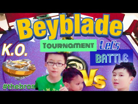 Beyblade Tournament Burst Battle With #Thebros