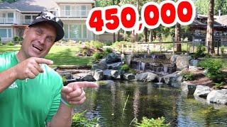 Massive *Backyard Waterfall* With 450,000# Of Stone!