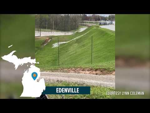 Liquified dam fill failure