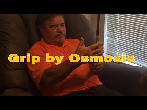 Indoor Golf Drills - Grip Through Osmosis