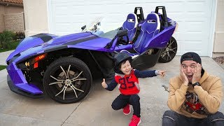 Son gave dad a car! That you have not seen!