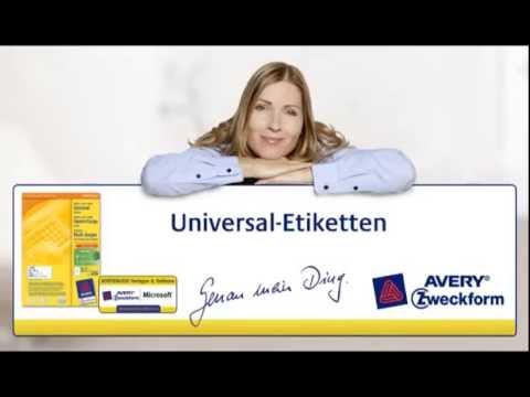 Kinderleichte Gestaltung der Universal Etiketten