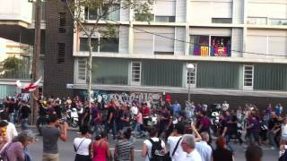 preview picture of video 'Boixos Nois Entrada Camp Nou Barça vs. Madrid 7-10-2012'