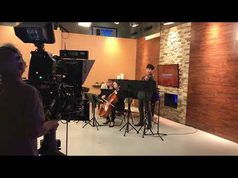 Meixu Lu performed at WAVE 3 NEWS in Louisville Kentucky.