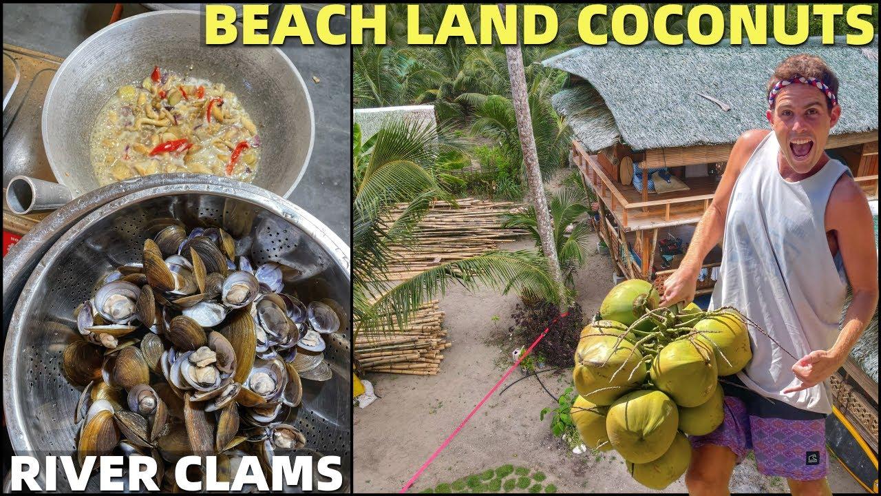 BecomingFilipino – BEACH LAND COCONUT CLIMBING – Cooking Clam Soup Filipino Style (Davao Home Life)