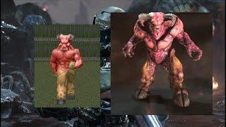 Doom (93-94) vs Doom (2016) - Equivalent Monsters Comparison - dooclip.me