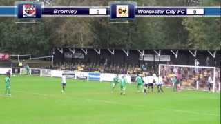 preview picture of video 'Bromley v Worcester City - FA Cup 4th Qualifying Round'