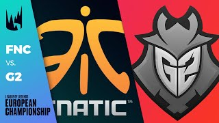 FNC vs G2, Game 1 - LEC 2020 Spring Playoffs Grand Finals - Fnatic vs G2 Esports G1