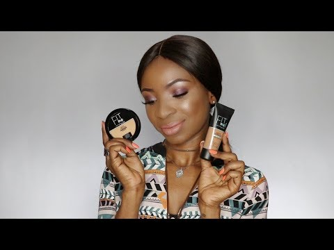 Glam Makeup ft Maybelline Fit Me! Matte + Poreless Foundation and Powder  | South African Youtuber