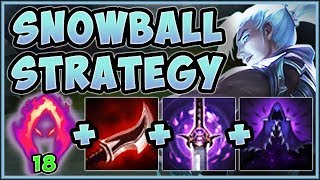 UNBEATABLE SNOWBALL STRAT! HITMAN KAYN IS 100% ABSURD! KAYN S9 JUNGLE GAMEPLAY! - League of Legends