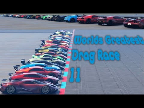 GTA 5 - World's Greatest Drag Race 11 (TOP 28 SUPER CARS) (Newest And Fastest)
