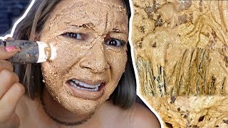 100 LAYERS OF MAKEUP UNDER MICROSCOPE