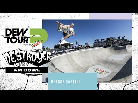 Bryson Farrill Am Bowl Zumiez Destroyer Award Dew Tour Long Beach 2017