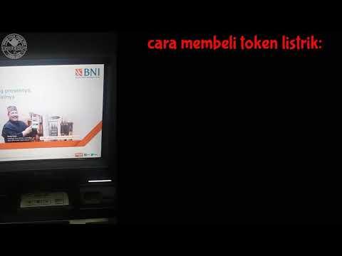 Pembelian token listrik PLN di ATM BNI