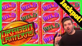 JACKPOT LIVE AS IT HAPPENS ON DRAGON LANTERNS SLOT MACHINE! Casino Live Stream W SDGuy1234