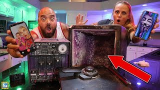 Hacked by Game Master Breaking Into Abandoned Mystery Safe?!