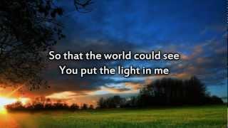 Brandon Heath - The Light in Me - Instrumental with lyrics