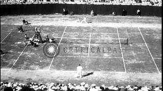 Ellsworth Vines Defeats George Lott In National Title Tennis Match At Forest Hill...HD Stock Footage