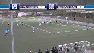 preview picture of video 'SV 98 Schwetzingen vs  Spvgg Durlach Aue'