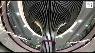 Inside view of Delhi Metro Magenta Line