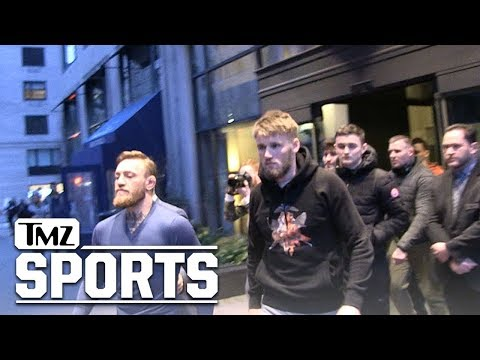 Conor McGregor Rollin' In NYC with Irish Bus Attack Gang | TMZ Sports