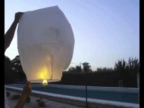 Istruzioni Video Lanterne Volanti Cinesi - Instruction How to use Chinese Sky Lanterns