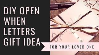 DIY Gift Idea for Boyfriend Girlfriend Relationship etc   Open When Letters
