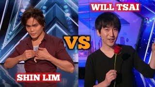 Shin Lim VERSUS Will Tsai - America's Got Talent Best Magician Of All Time