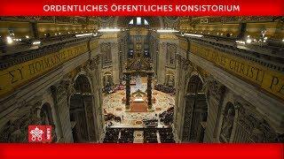 Papst Franziskus-Ordentliches öffentliches Konsistorium 2019-10-05