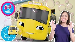 Buster And The Carwash | Sign Language For Kids | Baby Songs | Little Baby Bum | ASL