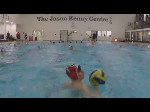 Bolton School U18 water polo team practise their shooting