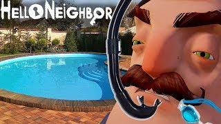 №771: ПРЫЖОК СОСЕДА В БАСЕЙН В ПРИВЕТ СОСЕД БЕТА 3(Hello Neighbor Beta 3)