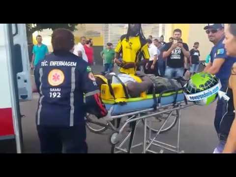 HAITIANO FICA GRAVEMENTE FERIDO DURANTE ACIDENTE NA AVENIDA 7 DE SETEMBRO