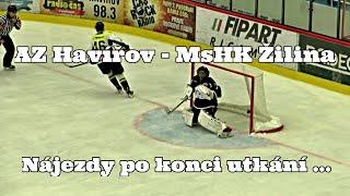 preview picture of video 'AZ Havířov - MsHK Žilina: Nájezdy po konci utkání ... 19. 8. 2014'